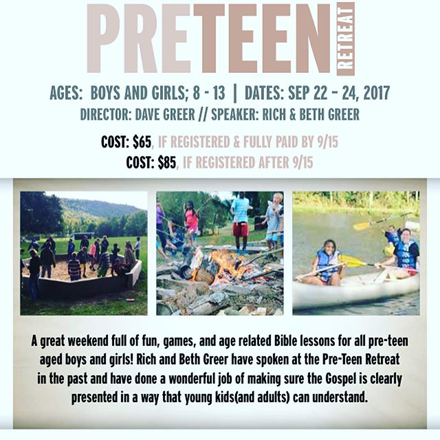 The PRETEEN RETREAT is just two weeks away! Make sure to register by next Friday to pay the lower rate of $65! If you need some convincing to go, then take a look at some of the pics from previous years! Hope that will help!