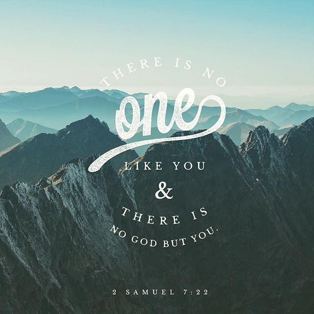 "From the Verse of the Day on our website! ""Therefore you are great, O Lord God. For there is none like you, and there is no God besides you, according to all that we have heard with our ears.""‭‭2 Samuel‬ ‭7:22‬ ‭ESV‬‬#campiroquoina #verseoftheday #votd #2samuel722"